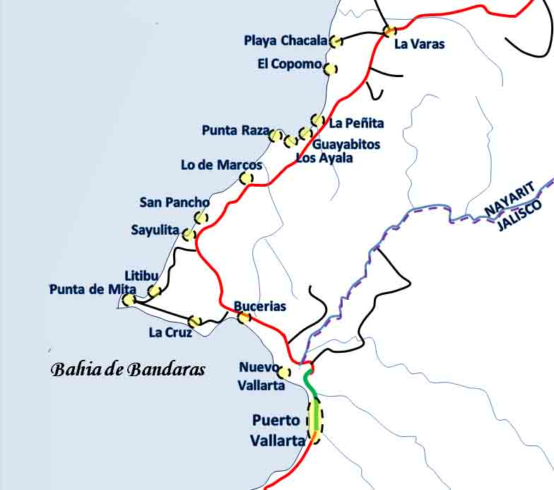Your Quick Guide To The Towns And Cities Of Riviera Nayarit - Louisiana map of cities and towns
